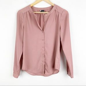 Sparkle & Fade | Blush Pink Shimmery Blouse | XS